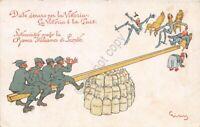 Cartolina - Illustrata - Russo -  Date danaro per la vittoria - soldati - WW1
