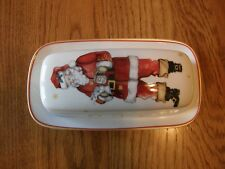 Williams Sonoma Twas the Night Before Christmas Butter Dish-Santa Claus-New box