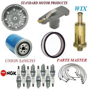 Tune Up Kit Filters Cap Spark Plugs Wire For FORD COUNTRY SQUIRE V8 6.6L;2Bbl 71