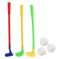 1 Set Plastic Golf Toys Safe Mini Golf Clubs for Children Babies Kids