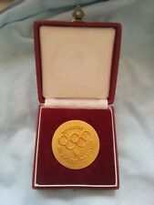 Olympic Gold Medal Gilded Gilt Very Rare IOC Faster Higher Stronger