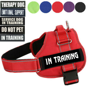 XXL XL L Large Dog Harness No Pull Padded Soft Vest Adjustable Collar W/ Patches