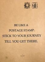 YOUR JOURNEY Signed by Emo free banksy photo MINT NEW STAMP ART un