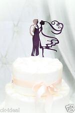 Caketopper Tortenfigur Brautpaar Romantik, Spiegeloptik sehr süß mit Steckfuß