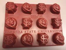 Set of 4 FSU Florida State Seminoles - Jello Mold Ice Cube Trays- Jigglers