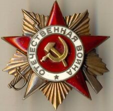 SOVIET red ORDER star OF THE GREAT PATRIOTIC WAR 1st Tank T34 Commander (1980)