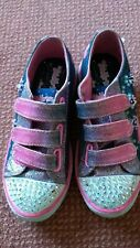 Girls Skechers Twinkle Toes Light Up shoes,trainers size 12(EUR 30),good condit.