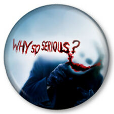 "Why So Serious? The Joker 1"" Pin Button Badge Batman Dark Knight Heath Ledger"