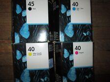 Genuine HP Ink Set 51645A+ 51640C+ 51640Y+ 51640M Sealed Cartons 2011 Fit 1600C