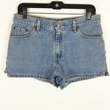 Levis Jean Shorts Juniors Women's Size 11 High Rise Waist Denim Light Wash Vtg