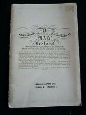 Genealogical and Historical Map of Ireland - Irish / Ulster - Heraldic Artists