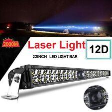 "New 22""dual row led laser light bar Combo Driving lamp 4x4 offroad Truck 12V 24V"