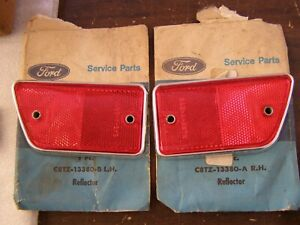 NOS OEM Ford 1968 1969 Truck Fender Reflectors Red F100 F250 + Econoline