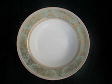 Wedgwood COLUMBIA. Green and Gold. Rimmed Soup plate  Diamete 8 ins/ 20 cms.