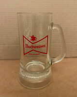 Clear Glass Budweiser Beer Stein Mug Beverage Drink King of Beers Anheuser-Busch