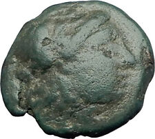 AIGAI in AEOLIS 2-1stCenBC Authentic Ancient Greek Coin APOLLO & GOAT i63082