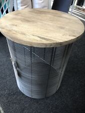 NEW - Casa Uno Wooden Side Table with Iron Base $230.00 **PICK UP ONLY**