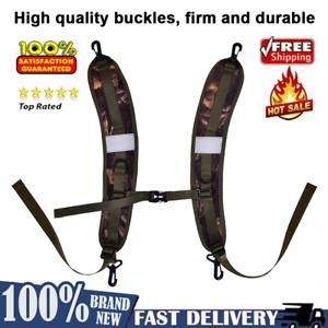 1 Pair Travel Camping Sports Bag Backpack Shoulder Straps Belt Camouflage Color