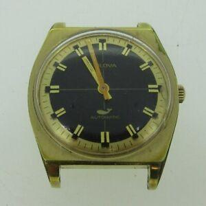 Vintage Bulova N0 11ANAC 17J Whale 10k RGP and Stainless Steel Watch Case Moveme
