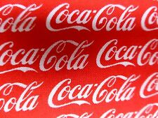 Coca Cola Tissu Fat Quarter Coton Rouge Blanc Coke Craft Quilting sous licence