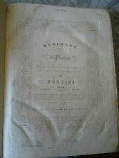 BERTINI rudiment du pianiste opus 84 + 2 Opus, Lemoine XIXème