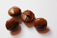 10 Lederknöpfe, hellbraun, ca. 16 mm Durchmesser