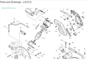 GENUINE MAKITA FIELD ASSY 599505-0 FOR MITRE SAW LS1013/ 110V