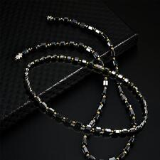Luxury fashion Magnetic Hematite Hematite Beads geometric black necklace St