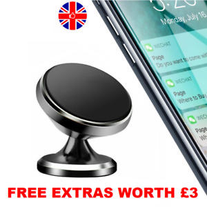 In Car Magnetic Phone Holder Mount Dashboard Dash Mobile Rotate 360 Swivel Stick