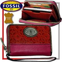 FOSSIL Damen Geldbörse Brieftasche Geldtasche Portemonnaie Geldbeutel Leder Neu