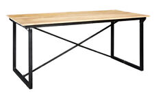 Up-cycled Industrial Style Dining Table Made From Reclaimed Metal and Wood ID14
