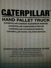 Cat Lift Truck pallet truck Operators Manual hand / pallet / jack / book