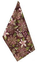 Plum Flora Purple Floral Cotton Kitchen Towel or Dish Towel Split P
