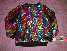 NWT JOJO SIWA JOJO'S CLOSET RAINBOW SEQUIN COAT SIZE XXL SHIP EVERYDAY