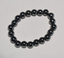 Bracelet Hématite bille 10 mm - Natural hematite bead bracelet