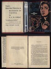1957 E.C.R.Lorac, PICTURE OF DEATH. 256 pages, CRIME CLUB, red Cloth, part D/J