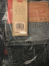Levi's 502 Denim Blue Jeans The Cavern Regular Tapered Leg Taper 34x34