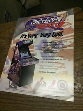 Atari WAYNE GRETZKY'S 3D HOCKEY Arcade Video Game flyer- original