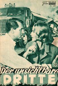 North by Northwest Original German Movie Program  1959  Hitchcock