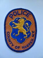 Vintage County of Nassau NY Police Uniform Patch 70's Cheese Cloth Retired Used