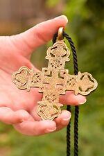 Ethiopian necklace cross pendant 30 inch rope ethnic gift