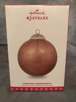 Hallmark Christmas Commemorative ~ Series 5th ~ 2017 ~ Keepsake Ornament