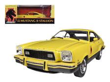 1/18 Greenlight 1976 Ford Mustang II Stallion Diecast Model Black Yellow 12889