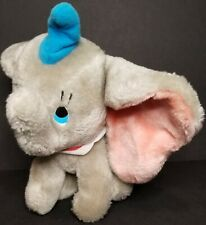 "VINTAGE 1980's Disneyland WALT DISNEY WORLD 9"" DUMBO Stuffed Plush Animal Toy"