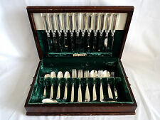 Oneida Community South Seas Silverplate Flatware Set 74 Pieces & Chest