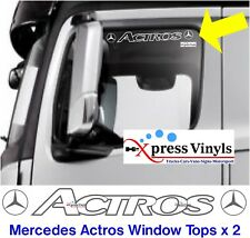 Mercedes Actros truck stickers window top vinyl decals x 2. Cut out design