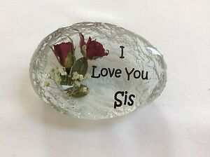 I LOVE YOU SIS. (HAND MADE WITH REAL ROSES)