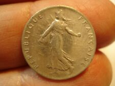 FRANCE  SILVER   50    CENTIMES   1918