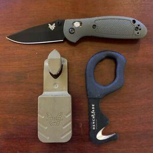 Benchmade 556 Mini Griptilian S30V OD Green + #7 Emergency belt cutter w/ sheath