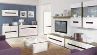 Living dining room furniture cabinet cupboard shelf Tv unit sanremo/white azteca